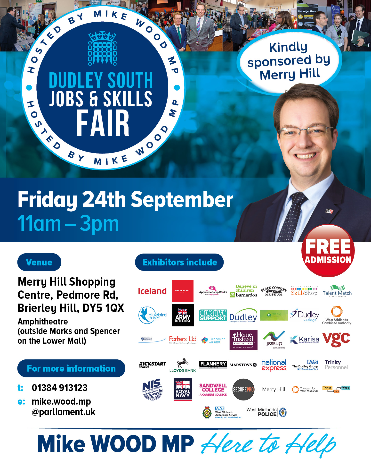 Dudley South Jobs and Skills Fair - Friday 24th September 2021