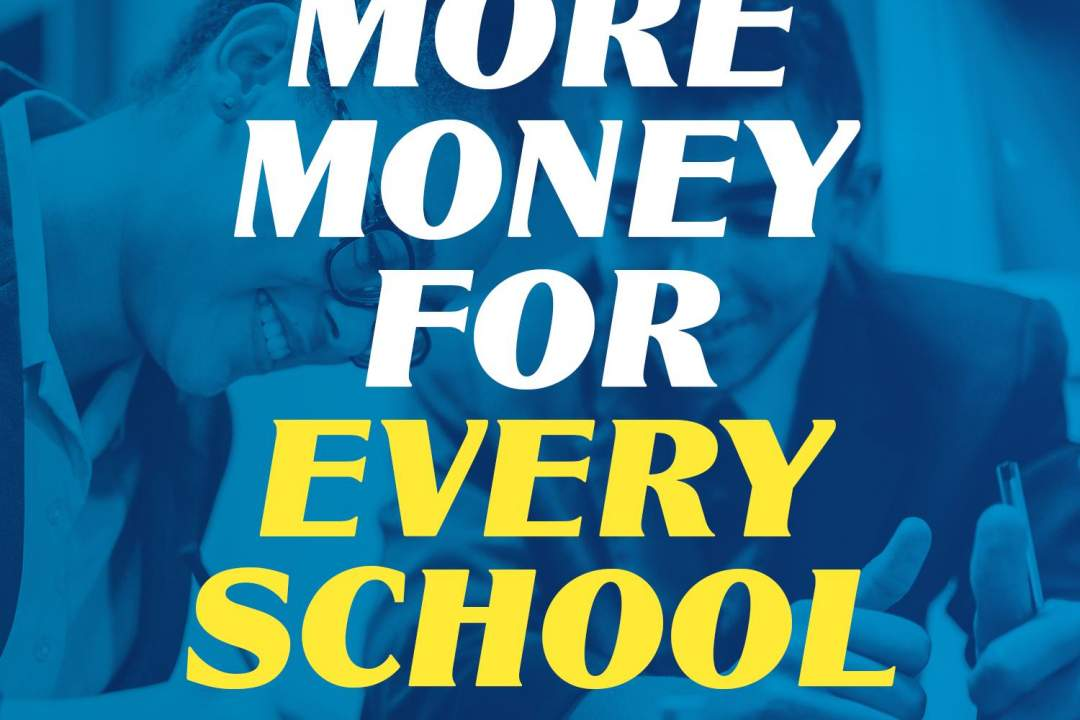 The Government is increasing the money given to every school