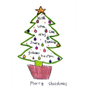Christmas card entry - Lucas Page, Year 2, Dawley Brook Primary School